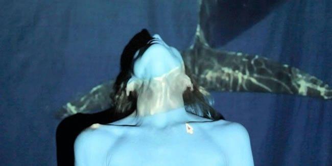 Camille Hanson, bailando con delfines